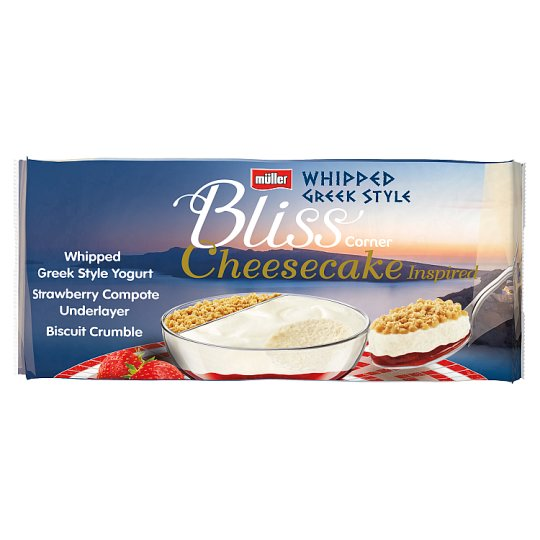 Muller Corner Bliss Cheesecake Strawberry 4 X 100G