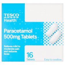 Tesco Paracetamol Capsule Tablets 500Mg 16