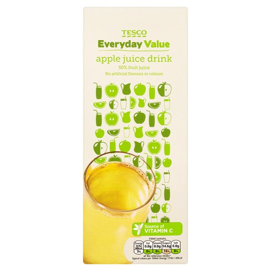 Tesco Everyday Value Apple Juice Drink 1.5L