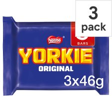 Yorkie Original Chocolate Multipack 3 X46g