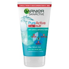 Pure Active 3In1 Clay Mask Scrub Wash 150Ml