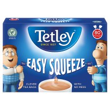 Tetley Easy Squeeze 80 Teabags 250G