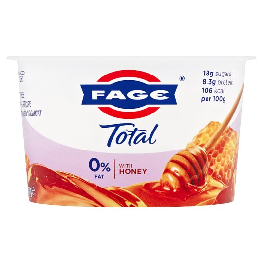 Total 0% Fat Greek Honey Yogurt 170G