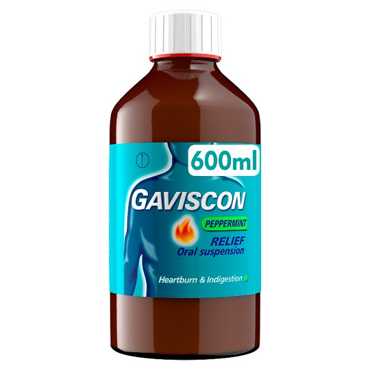 Gaviscon Peppermint Heartburn Liquid 600Ml