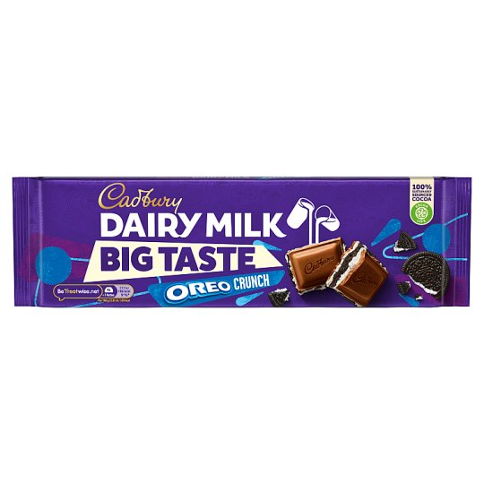 Cadbury Dairy Milk Big Taste Oreo Crunch Chocolate Bar 300G