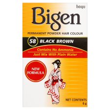 Bigen Permanent Hair Colour Black Brown