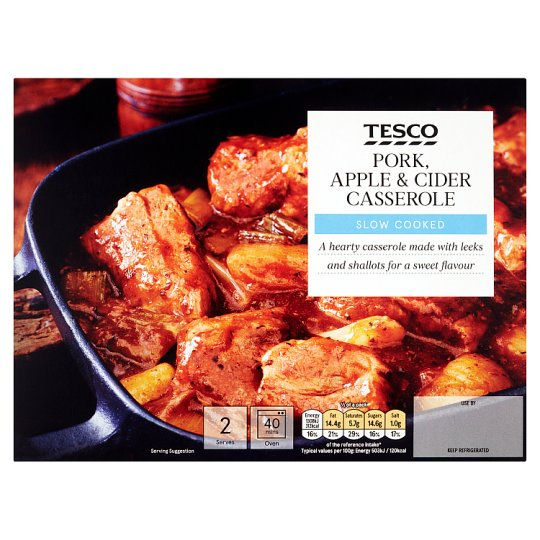 Tesco Pork, Apple And Cider Casserole 721G