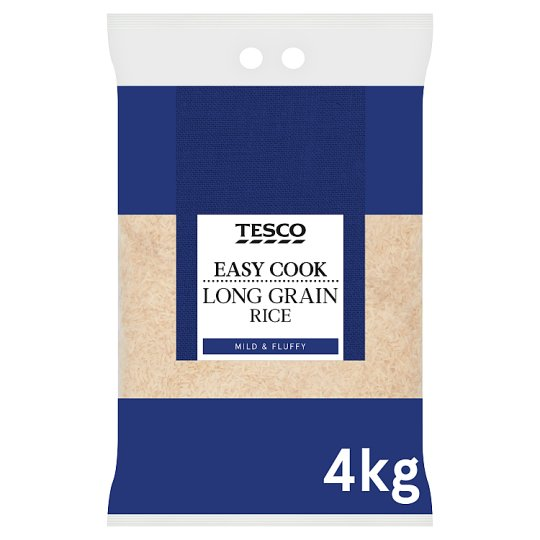 Tesco Easy Cook Long Grain Rice 4Kg