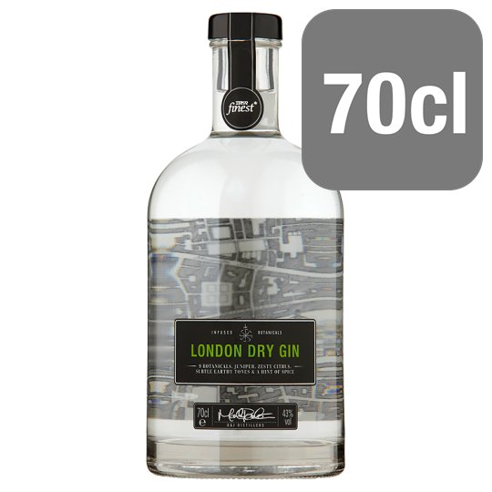 Tesco Finest London Dry Gin 70Cl