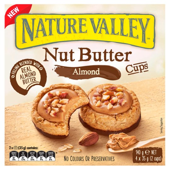 Nature Valley Nut Butter Cups Almond 4 Pack 140G