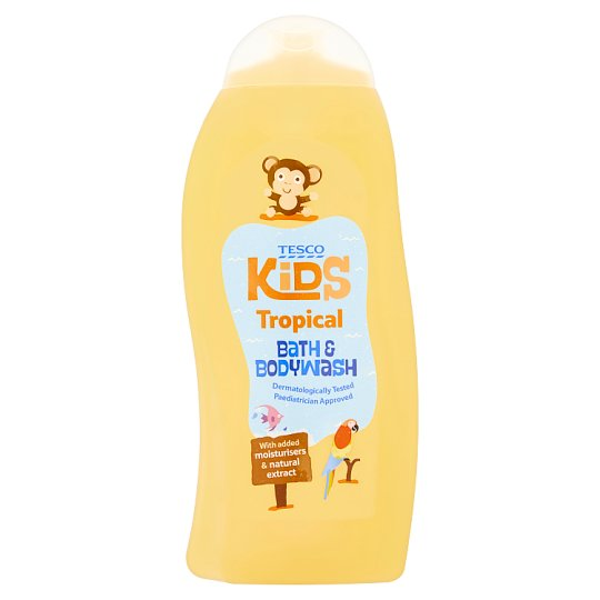 Tesco Kids Tropical Bath And Bodywash 500Ml