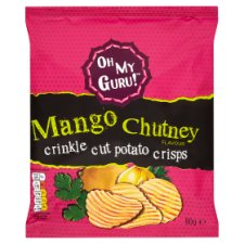 Omg Sweet And Sour Mango Chutney Potato Crisps 80G