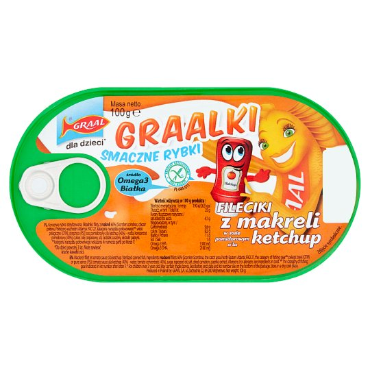 Graal Mackerel Fillets In Ketchup 100G