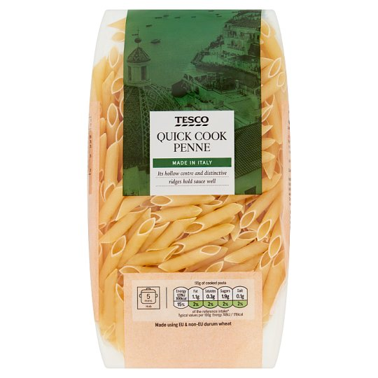 Tesco Quick Cook Penne Pasta 500G