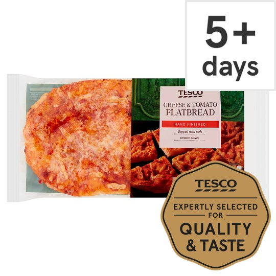 Tesco Cheese And Tomato Flatbread 225G