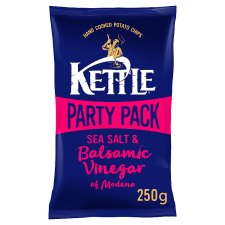 Kettle Chips Sea Salt And Balsamic Vinegar Party Pack 250G