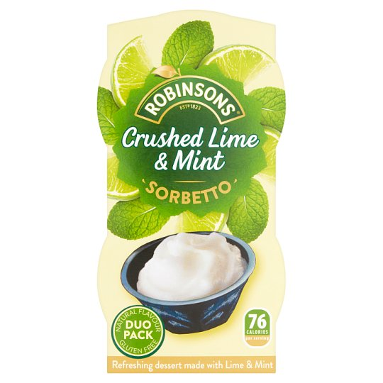 Robinsons Sorbet Lime And Mint 90Ml X 2