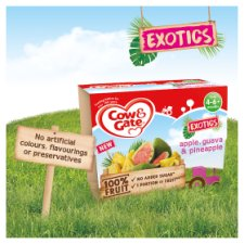 image 3 of Cow & Gate Fruit Cup Apple, Guava And Pineapple 4X100g