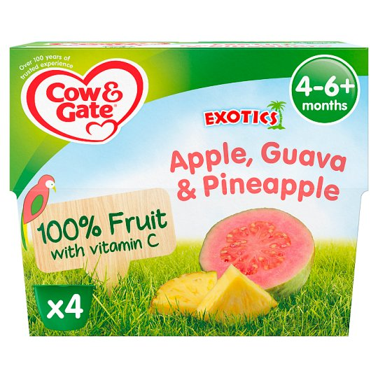 image 1 of Cow & Gate Fruit Cup Apple, Guava And Pineapple 4X100g