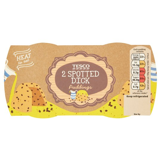 Tesco 2 Spotted Dick Puddings 2X130g