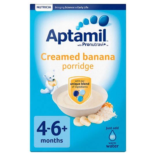 Aptamil Creamed Banana Porridge 125G 4 Month Plus