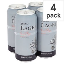 Tesco Premium Lager 4 X 440Ml