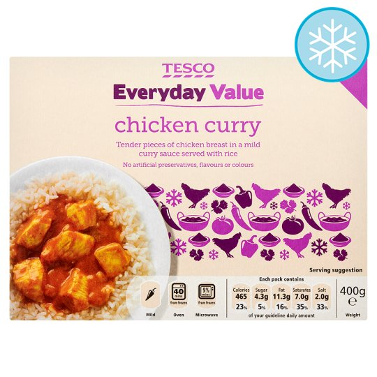 Tesco Everyday Value Chicken Curry 400G