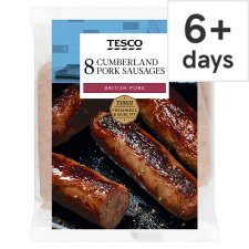 Tesco British Cumberland Sausages 8 Pack 454G