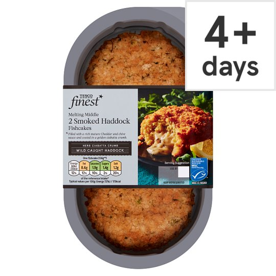 Tesco Finest 2 Smoked Haddock Fishcakes 290G