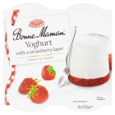 Bonne Maman Yogurt With Strawberry Layer 4X125g