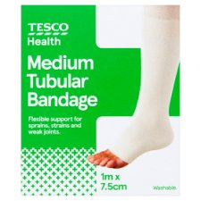 Tesco Elasticated Tubular Bandage 7.5Cmx1m Medium