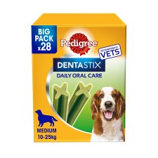 image 1 of Pedigree Medium Dog Dentastix Fresh Daily 28 Sticks