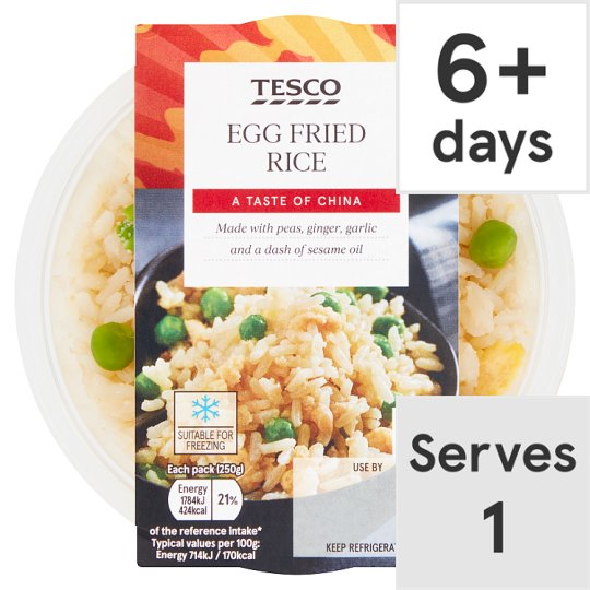 Tesco Egg Fried Rice 250G
