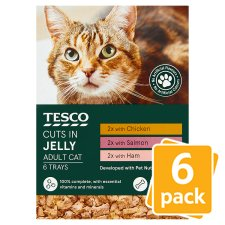 Tesco Cuts In Jelly Classic Selection Cat Food Trays 6 X100g