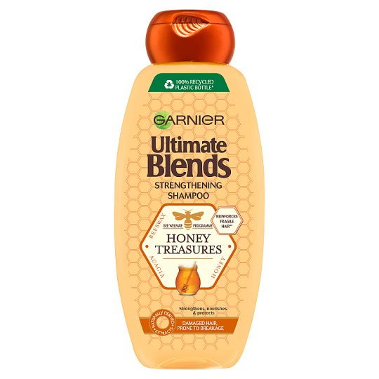 image 1 of Garnier Ultimate Blends Honey Strengthening Shampoo 360Ml