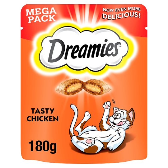 image 1 of Dreamies Chicken Mega Pack Cat Treats 180G