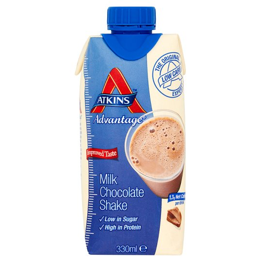 Atkins Advantage Milk Chocolate Shake Ready To Drink 330Ml