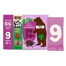 Bear Yoyo Blackcurrant 9 Pack 180G