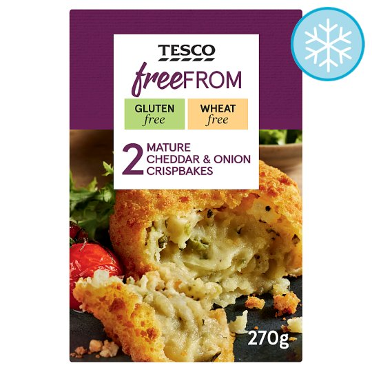 Tesco Free From 2 Mature Cheddar And Onion Crisp Bakes 270G