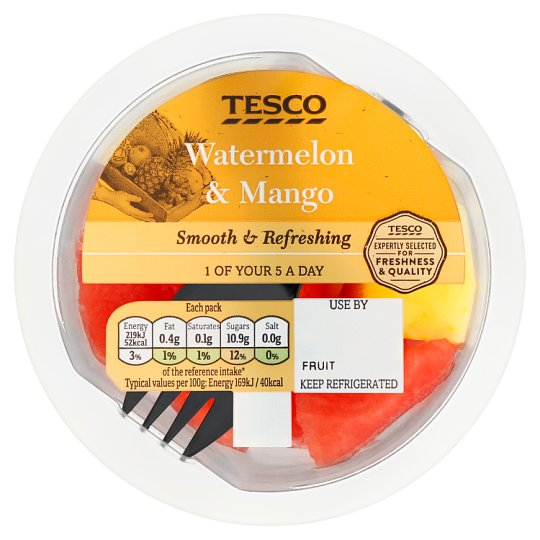 image 1 of Tesco Mango And Watermelon 130G