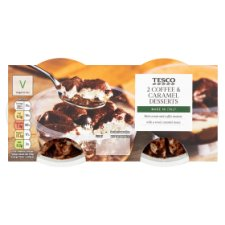 Tesco 2 Coffee And Caramel Desserts 2X85g