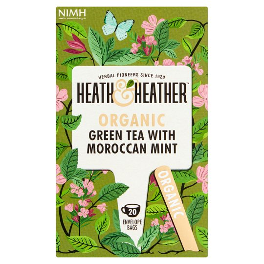 Heath And Heather Organic 20 Green Tea And Moroccan Mint 40G