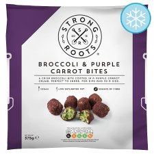 Strong Roots Broccoli & Purple Carrot Bites 375G