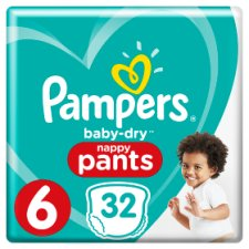 Pampers Baby Dry Pants Size 6 Essential Pack 32 Nappies