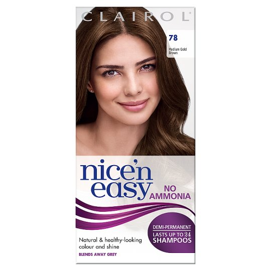 Nice N Easy No Ammonia Medium Golden Brown 78 Hair Dye