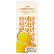 Tesco Everyday Value Orange Juice Drink 1.5L