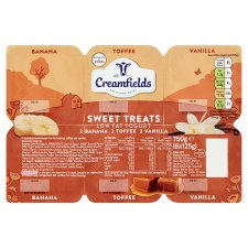 Creamfields Low Fat Sweet Treats Yogurt 6X125g