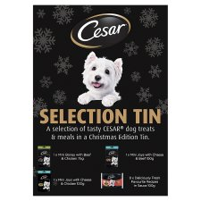 Cesar Pet Dog Christmas Selection Tin 1075G
