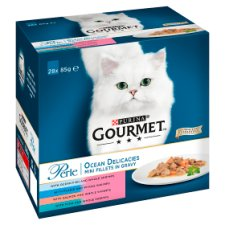 image 1 of Gourmet Perle Ocean Delicacies Cat Food 28X85g