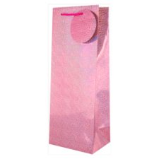 Tesco Blush Pink Holographic Bottle Bag